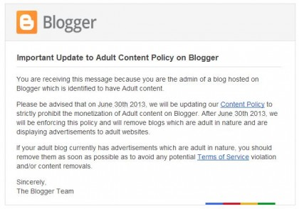 hosting news google reverses adult content blogger sites