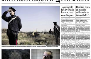terra dei fuochi sul New York Times