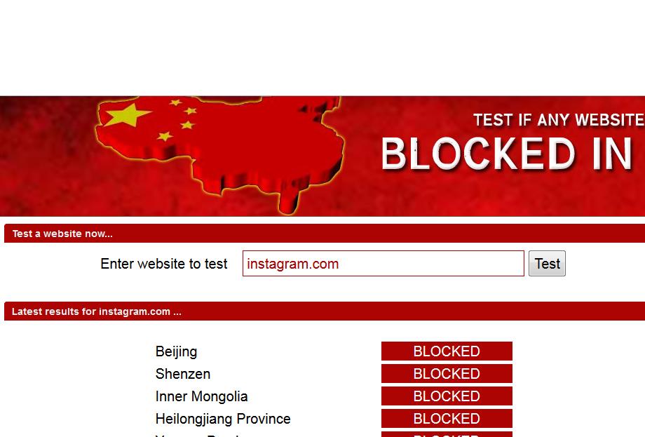 Blocked In China