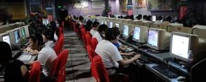 An internet cafe in Beijing, China. 21-Jun-2009