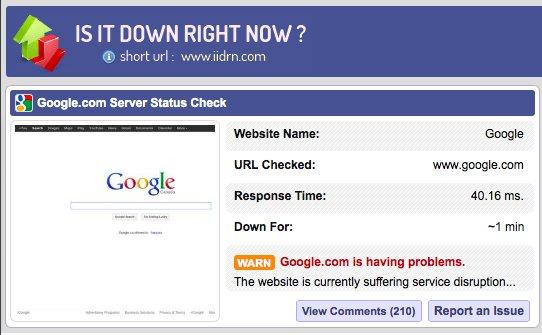 Google è down