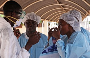 Ebola treatment centre in Mali